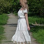Платья ручной работы. Ярмарка Мастеров - ручная работа Летнее платье-бохо (100 % батист). Handmade.