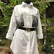 Одежда handmade. Livemaster - original item Boho style shirt, white shirt, black shirt.. Handmade.