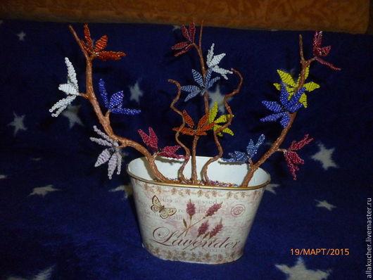 Статуэтки ручной работы. Ярмарка Мастеров - ручная работа. Купить Цветы. Handmade. Разноцветный, бисер, бисер
