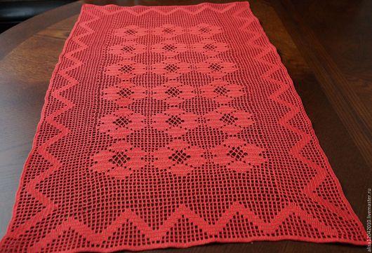 Текстиль, ковры ручной работы. Ярмарка Мастеров - ручная работа. Купить Салфетка-дорожка на стол в филейной технике. Handmade.