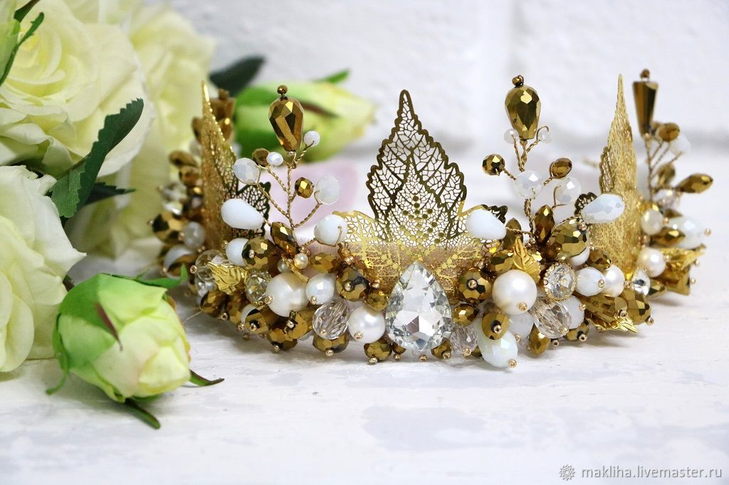 White crown in a Dolce style, Headband, Moscow,  Фото №1