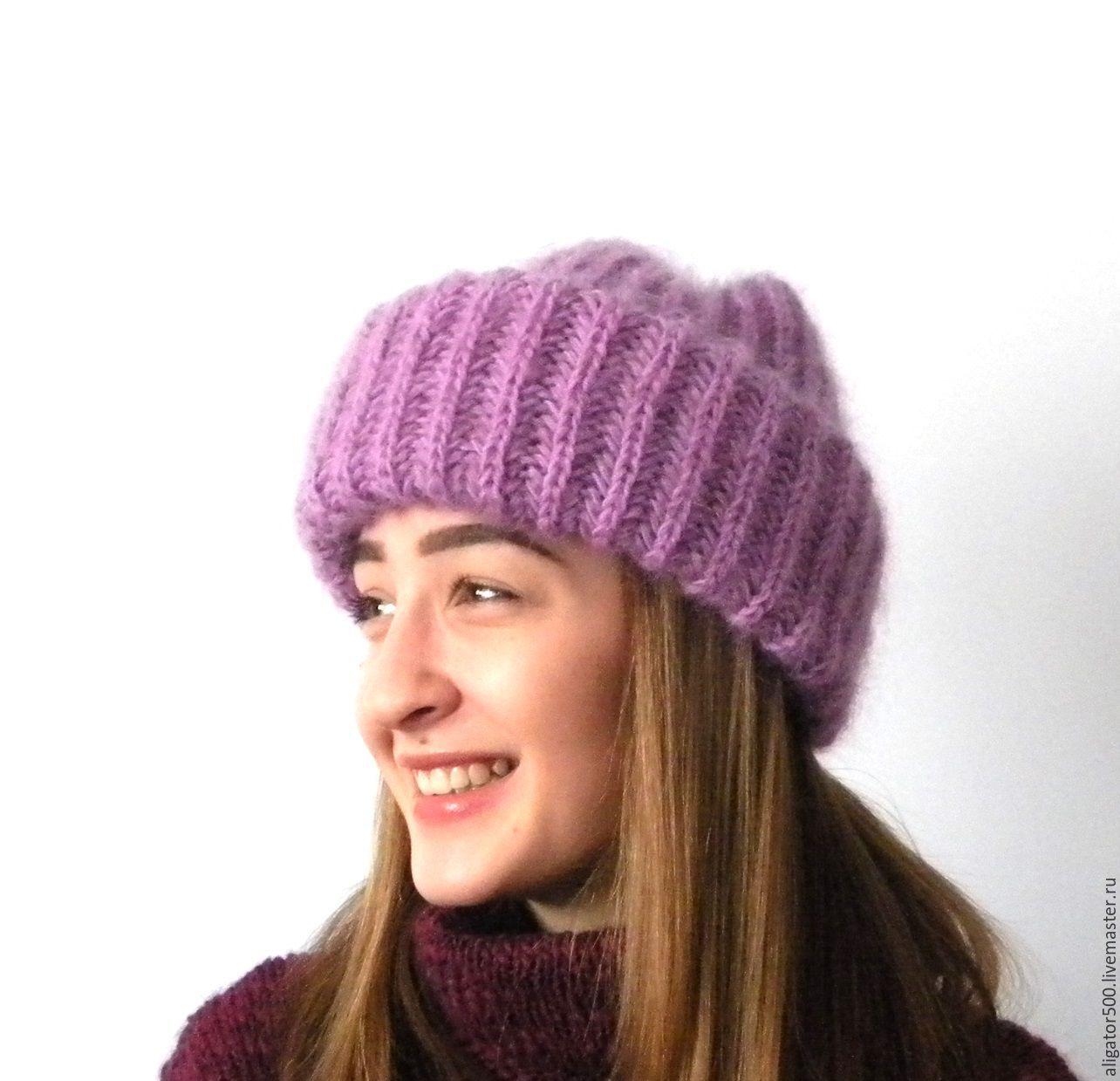 фото женские вязаные шапки