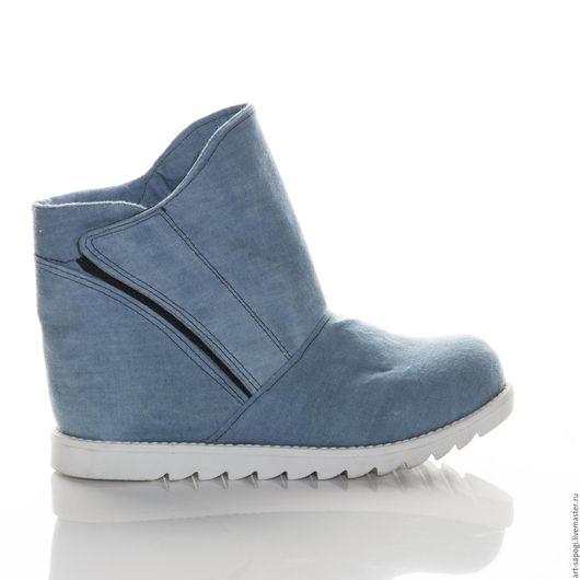 Обувь ручной работы. Ярмарка Мастеров - ручная работа. Купить Летние ботинки 8-322 (СБ). Handmade. женская обувь