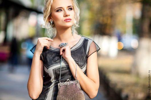 Платья ручной работы. Ярмарка Мастеров - ручная работа. Купить Платье Asse meno. Handmade. Чёрно-белый, Коктейльное платье