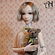 Коллекционные куклы ручной работы. Ярмарка Мастеров - ручная работа. Купить Полина (37см). Handmade. Бежевый, шарнирная кукла