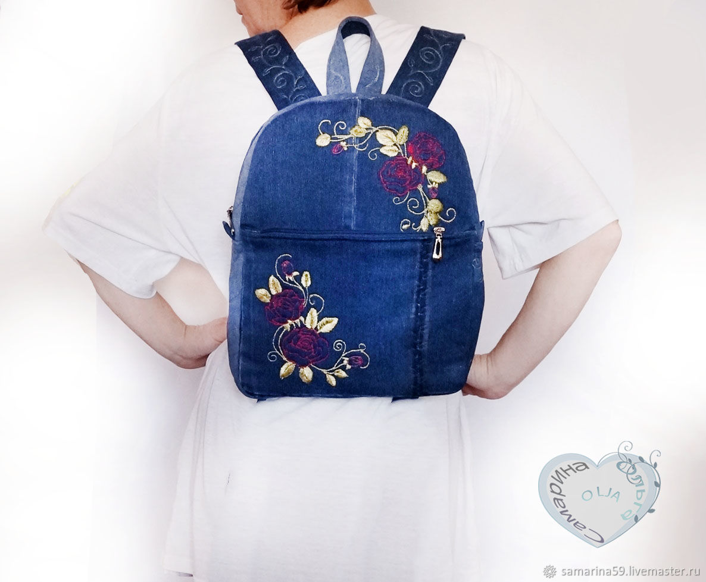 Backpack denim, Backpacks, Gelendzhik,  Фото №1