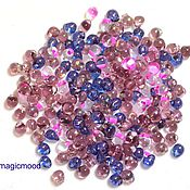 Материалы для творчества handmade. Livemaster - original item 10g Miyuki Drops MIX 01 lilac Japanese seed beads Miyuki. Handmade.