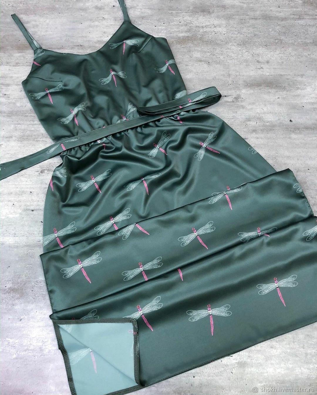 Шёлковое платье принт «Стрекозы», Платья, Краснодар,  Фото №1