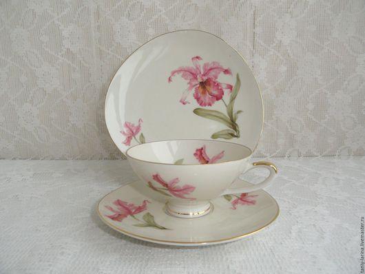 Винтажная посуда. Ярмарка Мастеров - ручная работа. Купить 1949-55гг. Чайное трио Johann Seltmann Vohenstraus. Handmade. Комбинированный