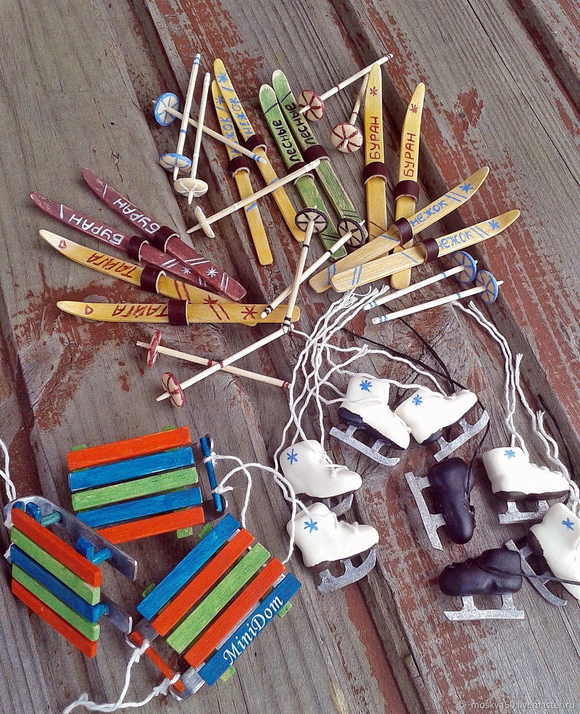 кукольная миниатюра для кукол и игрушек аксессуары для кукол миниатюра для кукол кукольные аксессуары минисад минисадик лыжи аксессуары для ватных игрушек коньки санки
