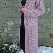 Одежда handmade. Livemaster - original item Knitted cardigan from Norwegian mohair and Merino. Handmade.