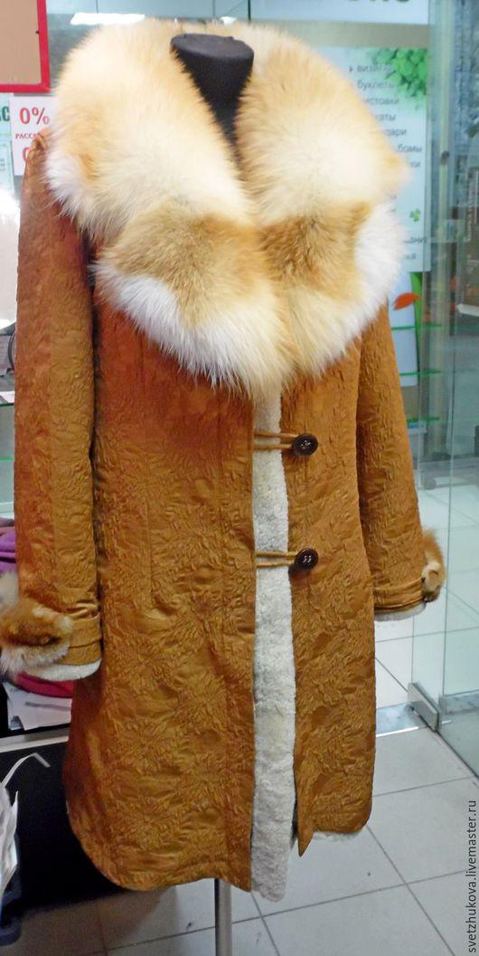 Верхняя одежда ручной работы. Ярмарка Мастеров - ручная работа. Купить Пальто из овчины (мехом внутрь). Handmade. Рыжий, пихора