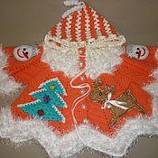Работы для детей, ручной работы. Ярмарка Мастеров - ручная работа Кофточка детская вязаная «Рождественская сказка», для девочки. Handmade.