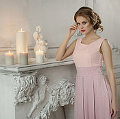 """Одежда ручной работы. Ярмарка Мастеров - ручная работа """"Розовый Жемчуг"""" женское платье. Handmade."""