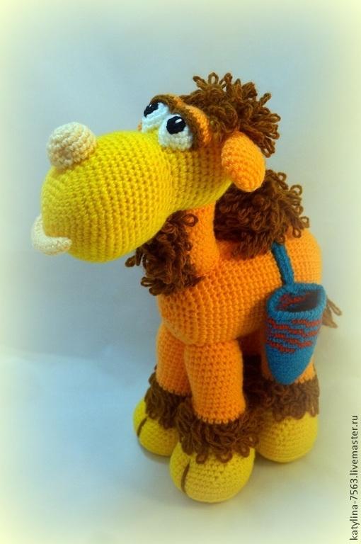 Игрушки животные, ручной работы. Ярмарка Мастеров - ручная работа. Купить Верблюд Жорик. Handmade. Оранжевый, игрушка в подарок