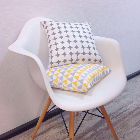 Текстиль, ковры ручной работы. Ярмарка Мастеров - ручная работа. Купить Интерьерная декоративная подушка. Handmade. Разноцветный, геометрический орнамент