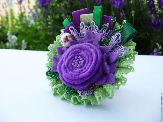 """Броши ручной работы. Ярмарка Мастеров - ручная работа. Купить Брошь """"Purple dream"""". Handmade. Фиолетовый, летняя брошь"""