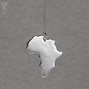 Украшения handmade. Livemaster - original item Silver pendant AFRICA. Handmade.