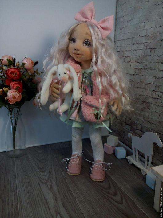 Коллекционные куклы ручной работы. Ярмарка Мастеров - ручная работа. Купить Авторская интерьерная кукла.. Handmade. Кремовый, кукла авторская