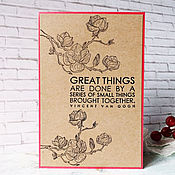 Открытки handmade. Livemaster - original item !The handmade card, motivator, van Gogh. Handmade.