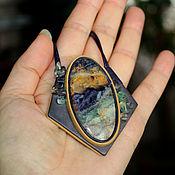 """Украшения ручной работы. Ярмарка Мастеров - ручная работа Колье """"Долина фиолетовых гор"""". Handmade."""