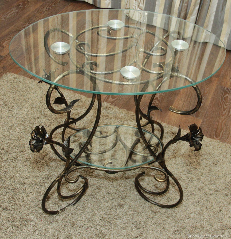 Wrought iron coffee table (double glass), Tables, Yoshkar-Ola,  Фото №1