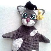 Куклы и игрушки ручной работы. Ярмарка Мастеров - ручная работа Кукла на руку - Кот ученый. Handmade.
