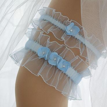 """Свадебный салон ручной работы. Ярмарка Мастеров - ручная работа Свадебный комплект подвязок для невесты """"Эдит"""". Handmade."""