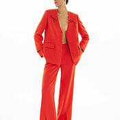 Одежда handmade. Livemaster - original item Suit: elongated jacket and trousers with slits. Handmade.