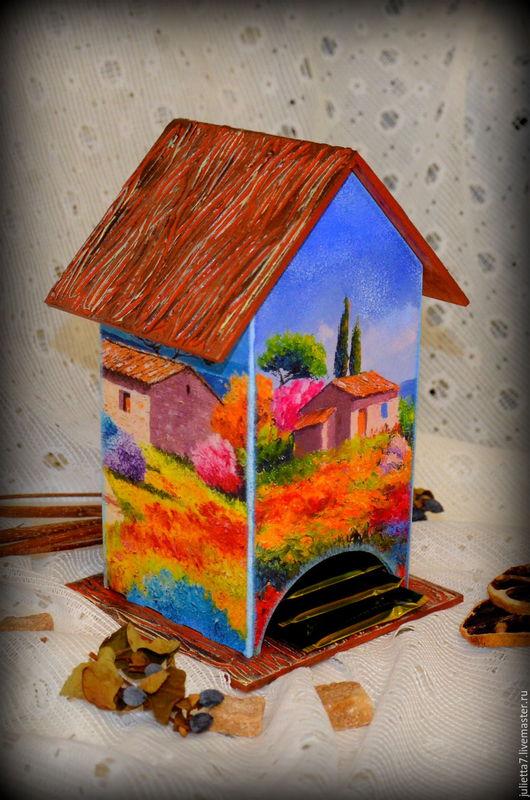 """Кухня ручной работы. Ярмарка Мастеров - ручная работа. Купить Чайный домик """"Воспоминания"""". Handmade. Домик для чая, подарок девушке"""