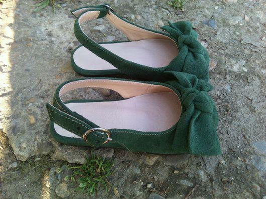 Детская обувь ручной работы. Ярмарка Мастеров - ручная работа. Купить Туфельки с открытой пяточкой. Handmade. Туфли, детские босоножки