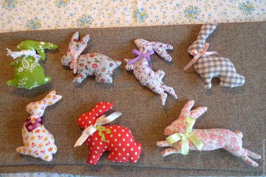Игрушки животные, ручной работы. Ярмарка Мастеров - ручная работа. Купить Зайцы-кролики. Handmade. Зайцы, для детской комнаты