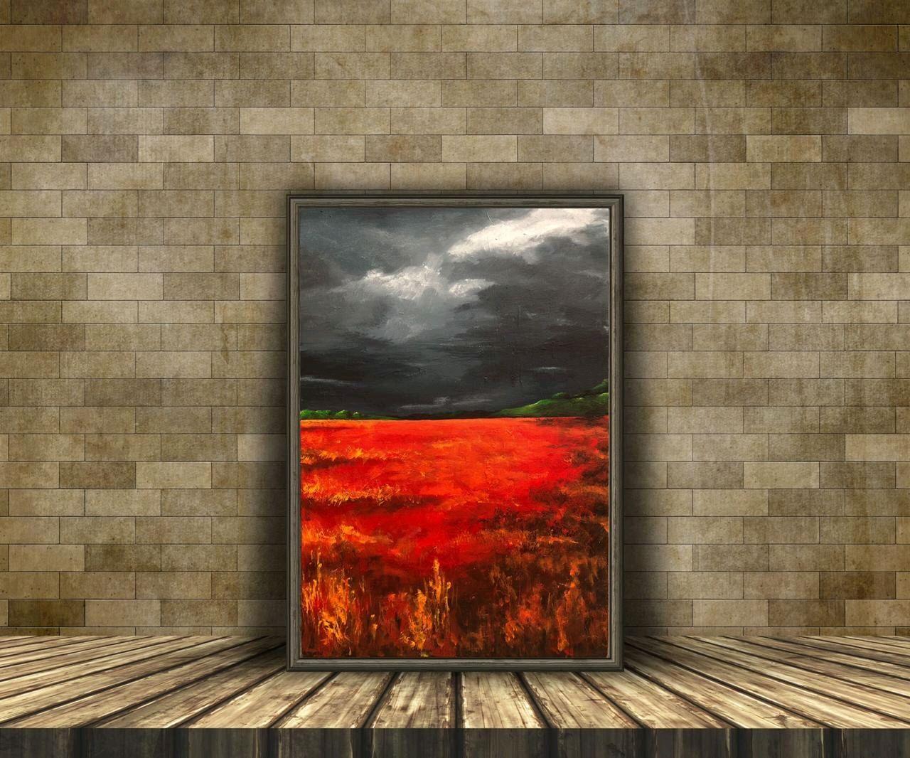 Картина «Отражение заката», Картины, Москва,  Фото №1