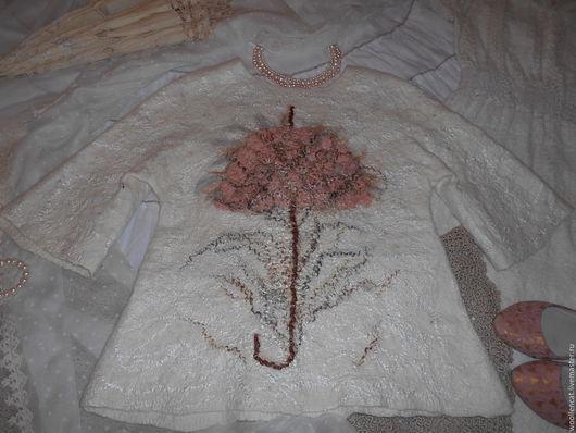 """Пиджаки, жакеты ручной работы. Ярмарка Мастеров - ручная работа. Купить Жакет """"Розовый зонтик"""". Handmade. Кремовый, экрю"""