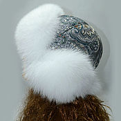 Аксессуары handmade. Livemaster - original item Hat: Winter hat with Fox fur. Handmade.