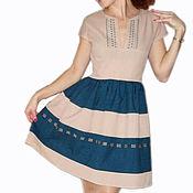 Одежда ручной работы. Ярмарка Мастеров - ручная работа Платье из хлопка с пышной юбкой. Handmade.