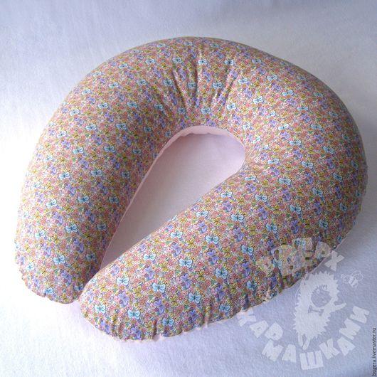 Для новорожденных, ручной работы. Ярмарка Мастеров - ручная работа. Купить Подушка для кормления. Handmade. Комплект в кроватку, комплект для девочки