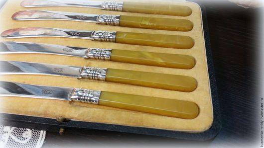 Винтажная посуда. Ярмарка Мастеров - ручная работа. Купить Антикварные ножи для масла/паштета, серебрение,Англия. Handmade. Винтаж, для кухни