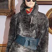 Одежда ручной работы. Ярмарка Мастеров - ручная работа Полушубок Свакара серебро, 46-48 размер,пшубок автоледи. Handmade.