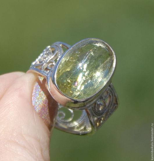 Кольца ручной работы. Ярмарка Мастеров - ручная работа. Купить Перстень с гелиодором (СС3). Handmade. Желтый, перстень с гелиодором