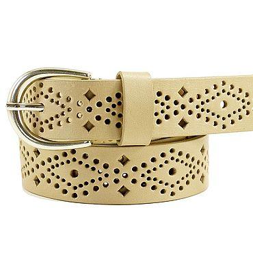 Accessories handmade. Livemaster - original item Copy of Wide white leather belt. Handmade.