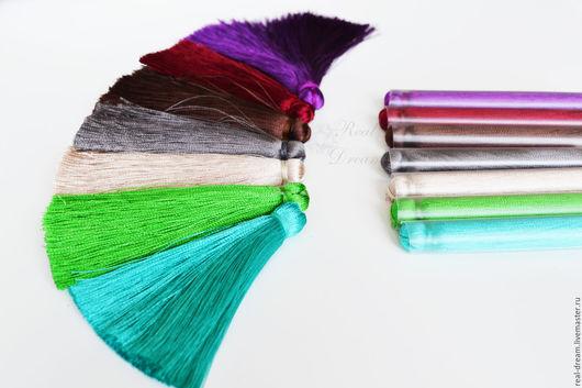 Для украшений ручной работы. Ярмарка Мастеров - ручная работа. Купить Кисть, 100% вискоза,7 см,(32 цвета) арт. Kis01. Handmade.