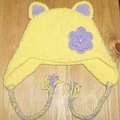 Работы для детей, ручной работы. Ярмарка Мастеров - ручная работа плюшевая шапка - кошечка. Handmade.