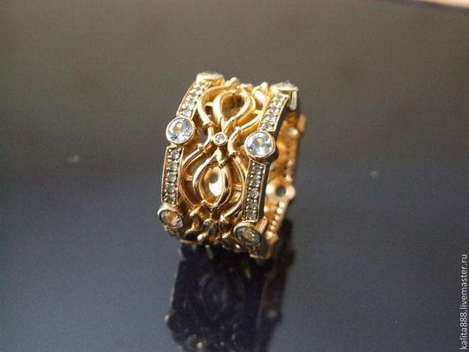 Кольца ручной работы. Ярмарка Мастеров - ручная работа. Купить Кольцо топазами. Handmade. Золотой, кольцо с камнями, кольцо с бриллиантами