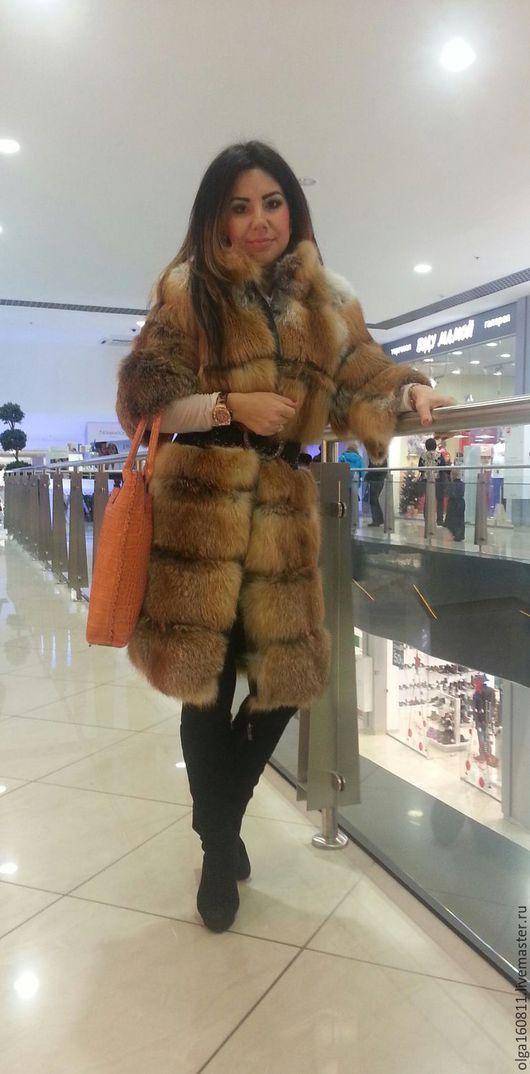 Верхняя одежда ручной работы. Ярмарка Мастеров - ручная работа. Купить Шубка из меха рыжей лисы. Handmade. Рыжий, шуба