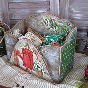 """Для дома и интерьера ручной работы. Ярмарка Мастеров - ручная работа Короб для записок """"Лесной праздник"""". Handmade."""