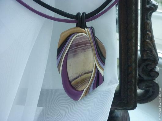 """Кулоны, подвески ручной работы. Ярмарка Мастеров - ручная работа. Купить гривна """" deep purple"""". Handmade. Разноцветный"""