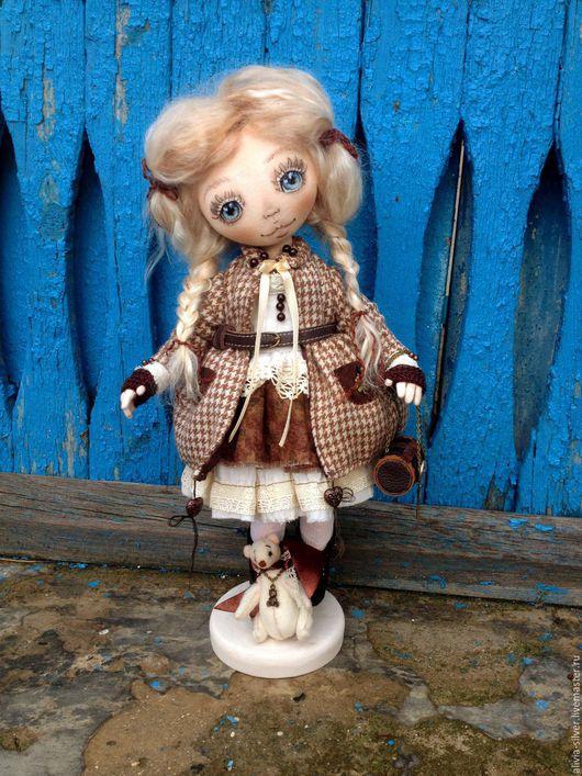 Коллекционные куклы ручной работы. Ярмарка Мастеров - ручная работа. Купить Мелисса. Handmade. Коричневый, кукла ручной работы