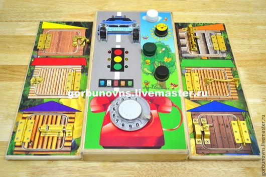 """Развивающие игрушки ручной работы. Ярмарка Мастеров - ручная работа. Купить Развивающий Модуль Доска Бизиборд """"Ассорти"""". Handmade."""