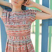 """Одежда ручной работы. Ярмарка Мастеров - ручная работа """"Нуга"""". Летнее платье с вышивкой, в тёплых пастельных тонах, в пол. Handmade."""
